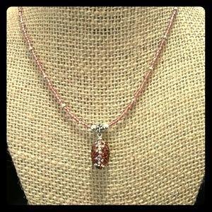 Jewelry - Rhinestone football necklace